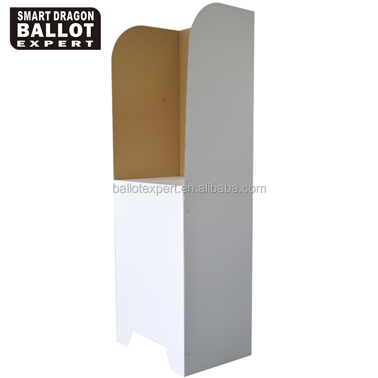 Thickness 4~5mm Display Stand High 86cm Voting Booth Cardboard Election Table
