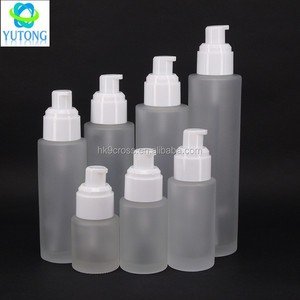 cosmetic 30ml 60ml 120ml glass airless pump bottle