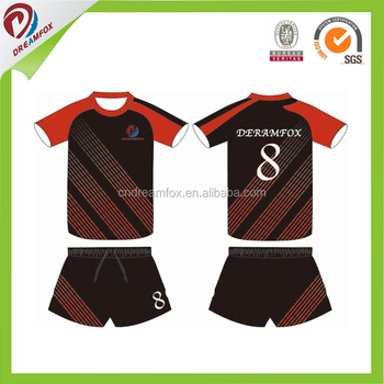 86f9c672d Made in China Professional custom soccer jersey set for team chile style  soccer uniform football jersey