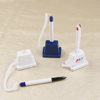 Plastic Counter ballpoint Pen with Adhesive Base and Cord for bank office hotel