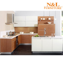white oak wood grain melamiend chipboard / PVC thermofoil faced MDF kitchen cabinet design kitchen cabinet skins