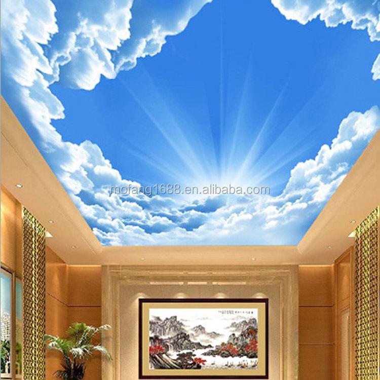 decke dekorative tapete wandbild blauer himmel design 3d. Black Bedroom Furniture Sets. Home Design Ideas