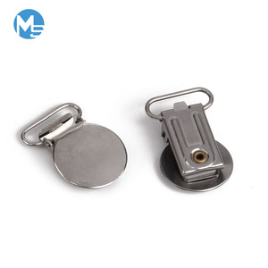 High quality strong small suspender clip hardware uk braces metal round suspender clips for pants