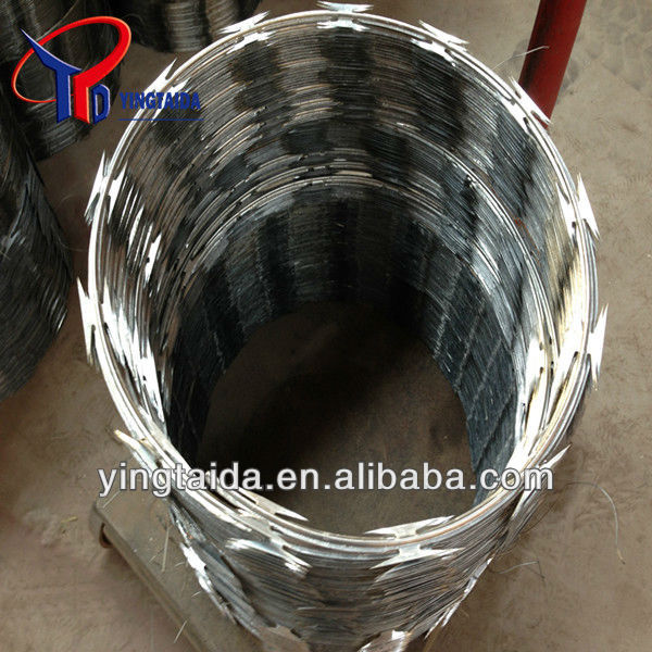 stainless steel concertina razor babred wire