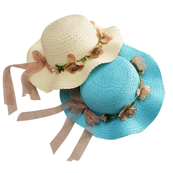 Custom Logo Printed Promotional Outdoor Mini Straw Hat For Girls ... a5f8d73b837