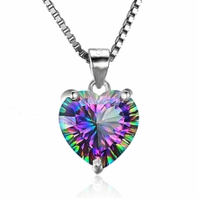 Grosir Fashion Multi Colored Wanita Minimalis <span class=keywords><strong>Perhiasan</strong></span> <span class=keywords><strong>Kalung</strong></span> Kristal Hati <span class=keywords><strong>Kalung</strong></span>