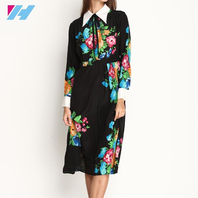 5c9dc80c13f Оптовая Продажа Новые женские шелковое платье летние модные с цветочным  принтом элегантные Макси-платья с