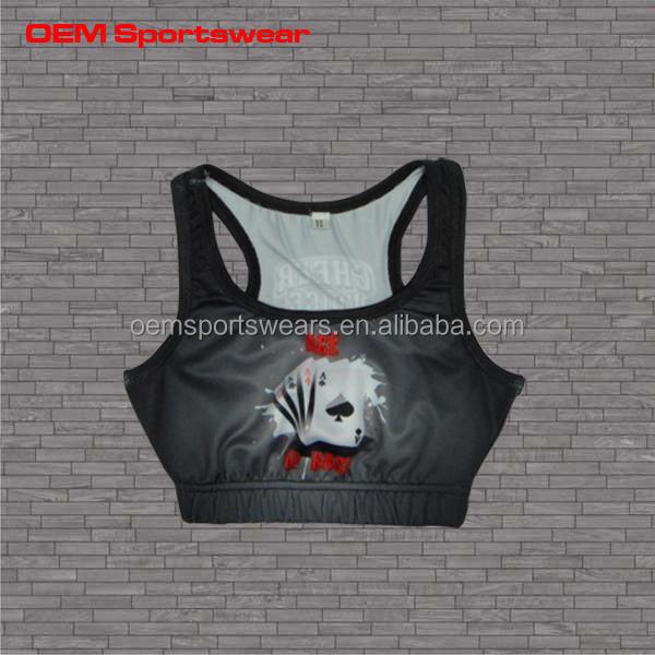 8fc9eace21 Cheer Wear Custom Sublimated Kids Training Sports Bra - Buy Sports Bra