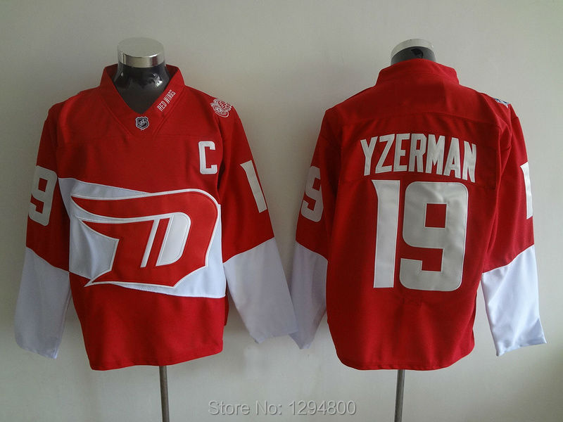 2016 Stadium Series 19 Steve Yzerman Jersey Detroit Red Wings Hockey Jerseys  Home US Sale NHL ... 78035ea46