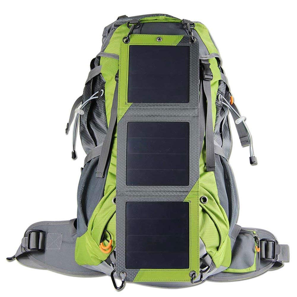 Fly Hiking Solar Backpack with Waterproof Cover,Solar Charger,10 Watt Solar Panel,2L Water Bag,for Camping and Outdoor Hunting Hiking