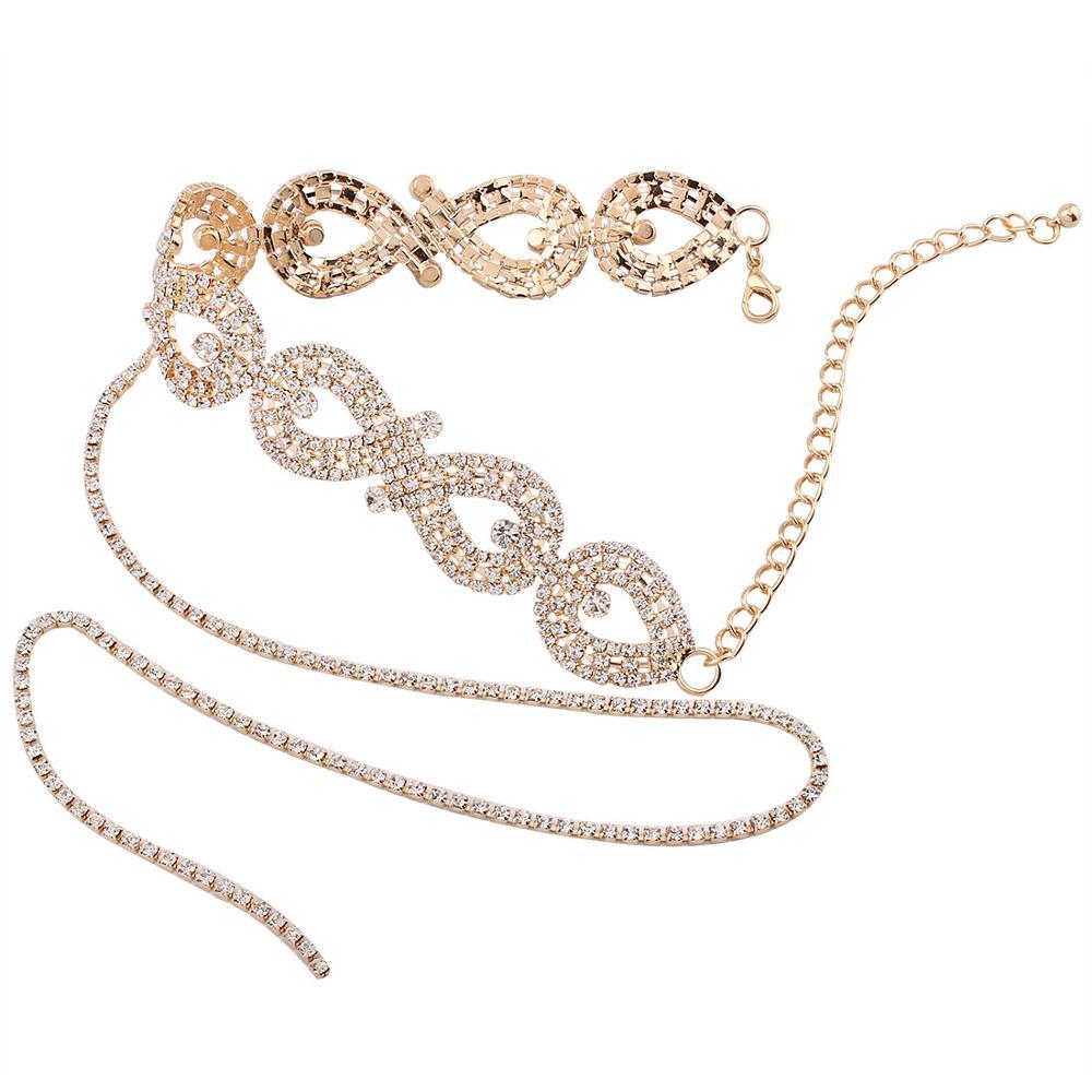Sparkly Strass Halsband Halskette Quaste Strass Körperschmuck Tops ...