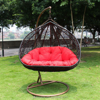 Patio Swings Indoor Outdoor Furniture Rattan Swing Chair Garden Rattan  Wicker Basket For Wedding