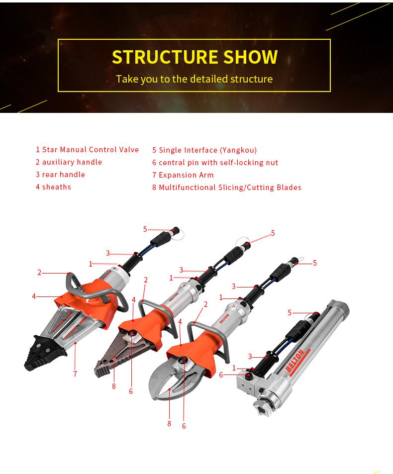 ODETOOLS Firefighting rescue ram hydraulic cylinder 1 stage telescopic ram R412B