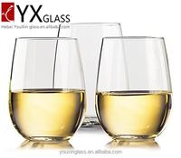12oz Wine glasses - borosilicate glass Drinkware - Dishwasher-safe - Set of 4 - 16 oz