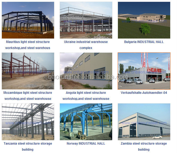Qingdao high quality wide span light frame prefabricatd steel structure warehouse