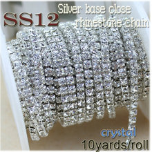 Clear Faceted Rhinestone 3mm ss12 Crystal Rhinestone Chain Garment Accessories