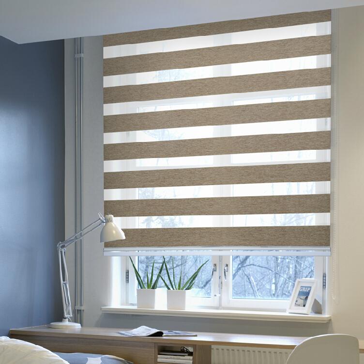 Polyester Zebra Blind / Roller Blind Curtain