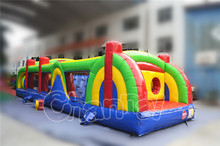 Garden kids camp inflatable obstacle course equipment