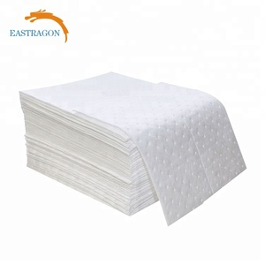 White Dimpled Oil Absorbency Pad