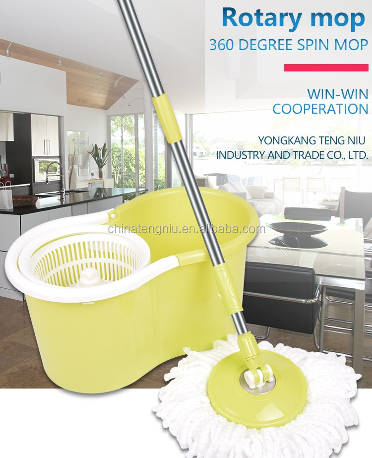 Telescopic Double device Euro Clean Microfiber Mop for Easy Cleaning
