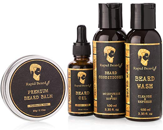 Beard Grooming Care Kit with Beard Brush Oil organic source also Beard Balm