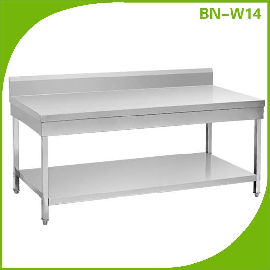 kommerziellen edelstahl k che insel tisch mit 1 unteren regal m bel der k che produkt id. Black Bedroom Furniture Sets. Home Design Ideas