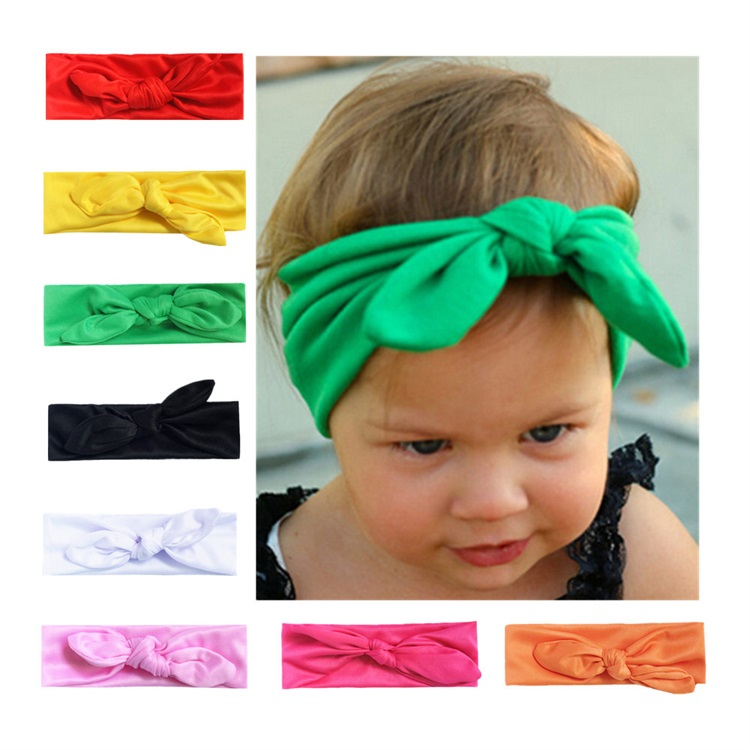 Fashion Elastic Cloth Accessories Decoration Rabbit Ear Baby Hair Band