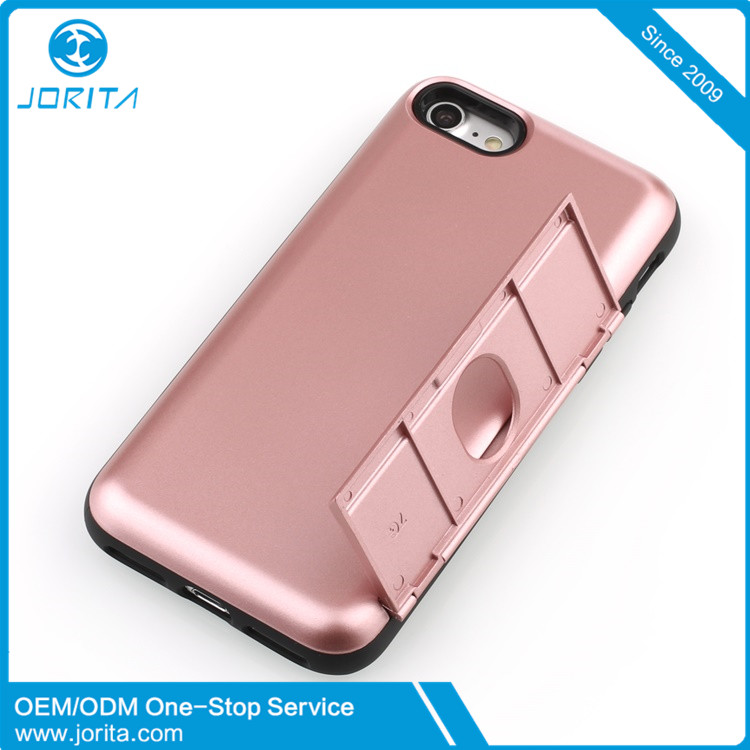 with credit card slot back cover phone case for iPhone 7, card slot case for S8 ,mobile phone shell