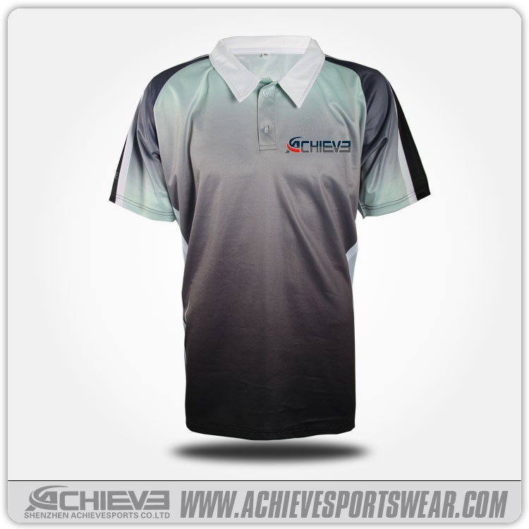 Newest Design Cricket pattern Shirts  sublimation breathable Sports Cricket Jersey design in Shenzhen, China