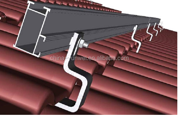 Hot-Sale Stainless Steel Flat Tile Photovoltaic Solar Roof Hook