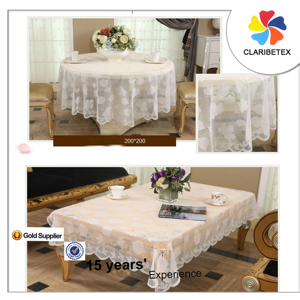 romantic fancy white square lace embroidered table cover table