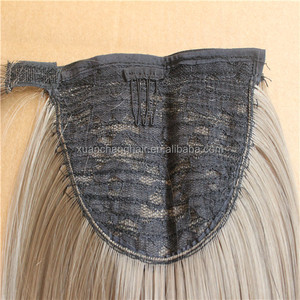 Light Brown Remy Brazilian Ponytail Real Hair Weft Drawstring Ponytail