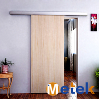 Aluminium alloy wood sliding door system with modern unique style
