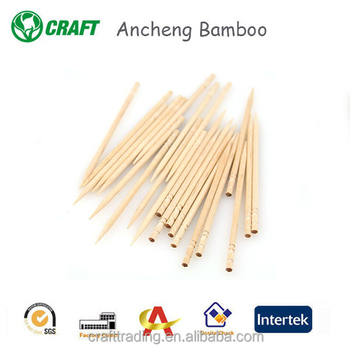 Disposable individual packed carved bamboo wood toothpicks