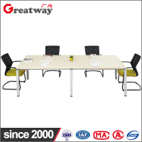 Muebles Oficina White and Green Office Furniture 4 Person Office Workstation