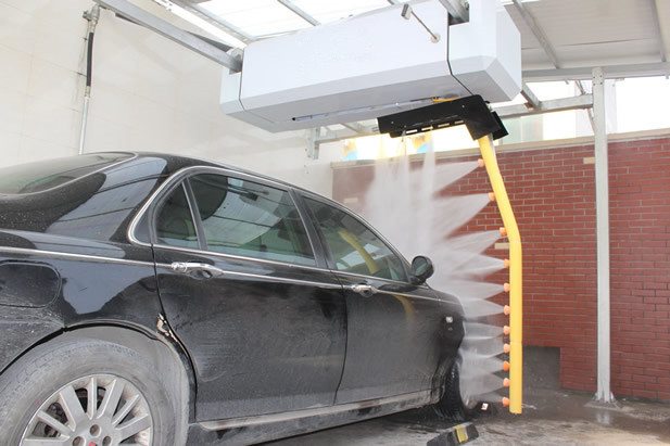 Touchless High pressure 360 degree car wash with foam and wax systems