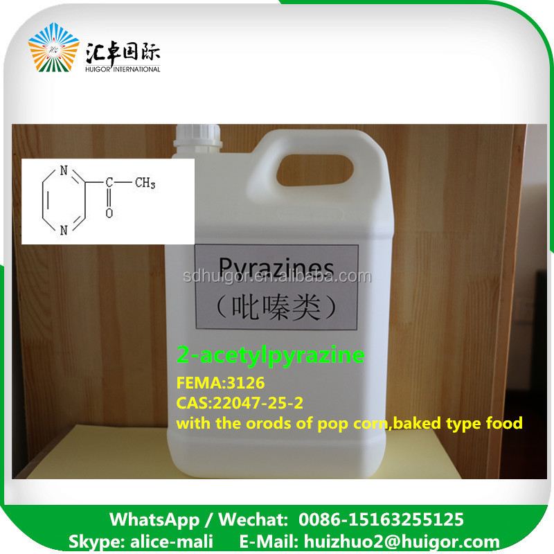 Synthetic flavour&fragrance 2-Acetyl pyrazine CAS 22047-25-2
