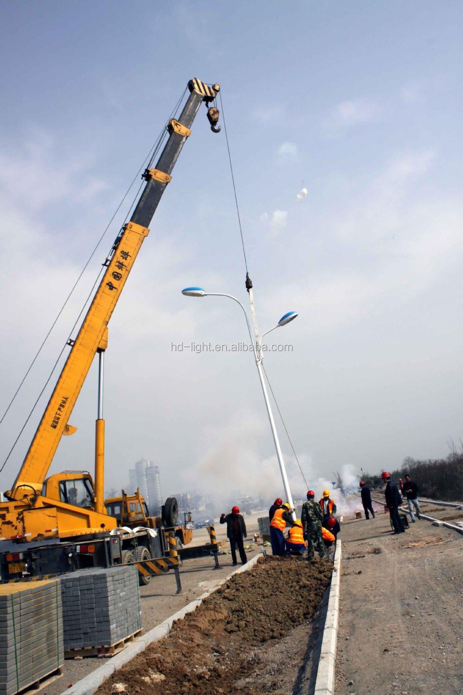 12m Solar Street Light Pole With Hdg & Powder Coating