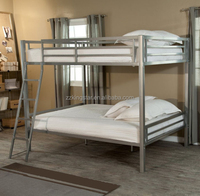 Twin size metal loft bunk bed