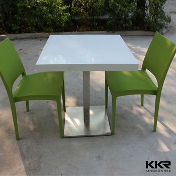 Acrylic solid surface table chair / cafe table chair set / used restaurant table and chair & Acrylic Solid Surface Table Chair / Cafe Table Chair Set / Used ...