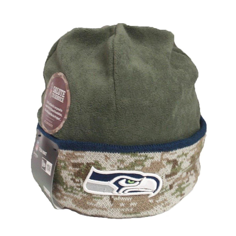 537e6fd8 New Era Seattle Seahawks 2014 NFL Salute to Services Camo Knit Fleece Cuff Beanie  Hat