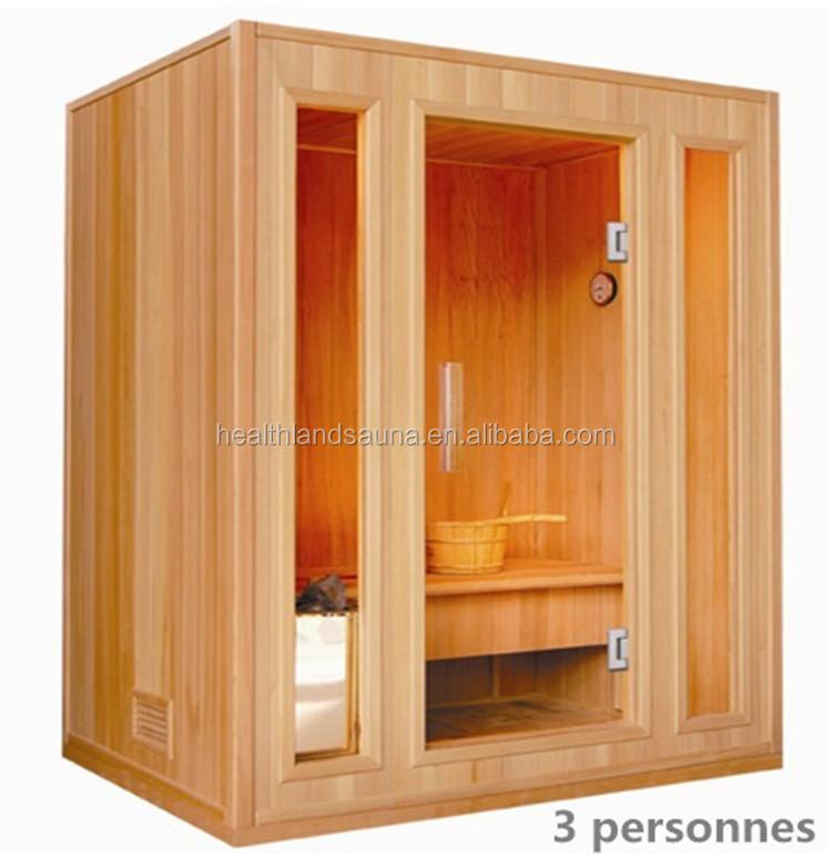 Traditional Steam Sauna Room 3 Person Home Use Indoor Sauna Kits ...