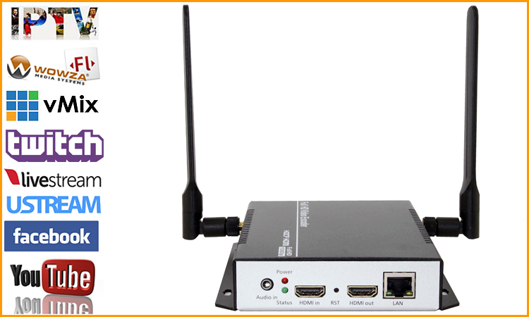 URay Tech HEVC H.265 HDMI VideoTo RTMP RTSP HTTP Streaming Encoder Senza Fili H265 Video H.264 HD A Flusso IP Encoder IPTV WiFi