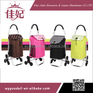 2014 hot sale easy 600D folding high quality travel trolley shopping cart with bag luggage and tea trolley