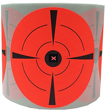"(Buy 1 Roll & Get 1 Free) Target Stickers 3"" Inch Round Adhesive Shooting Targets Sticker - Target Paster"
