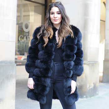 ee49d2232e2c Cx-g-a-236 Womens Fashion Real Fox Fur Russian Winter Fur Coat ...