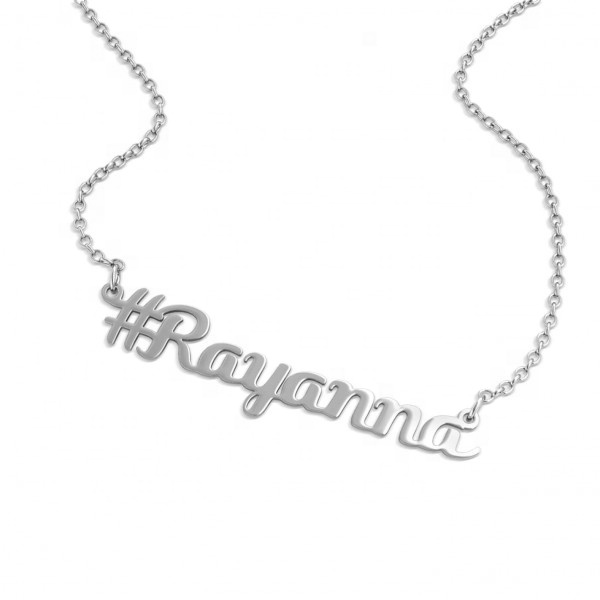 Personalized Customized Jewelry 925 Silver Name Necklace Pendent For  Fashion Women Christmas Gift9 - Buy Trendy Necklace Gold,24k Gold Cross