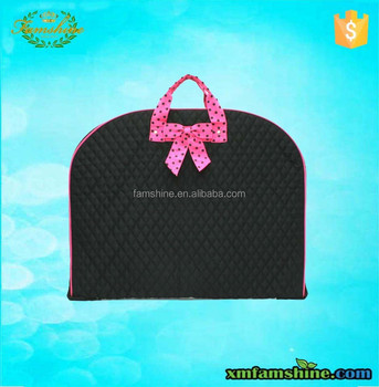 New Style Foldable Black Quilted Garment Bag