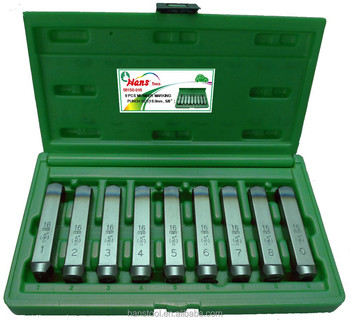 hans tool the best quality competitive price 27 letter punch set 9 number punch set