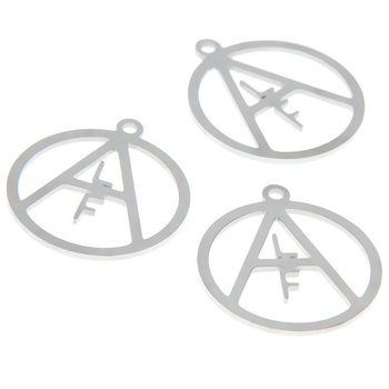 ALF Symbol charm Animal Liberation Front Stainless steel Charm pendant 28x25mm